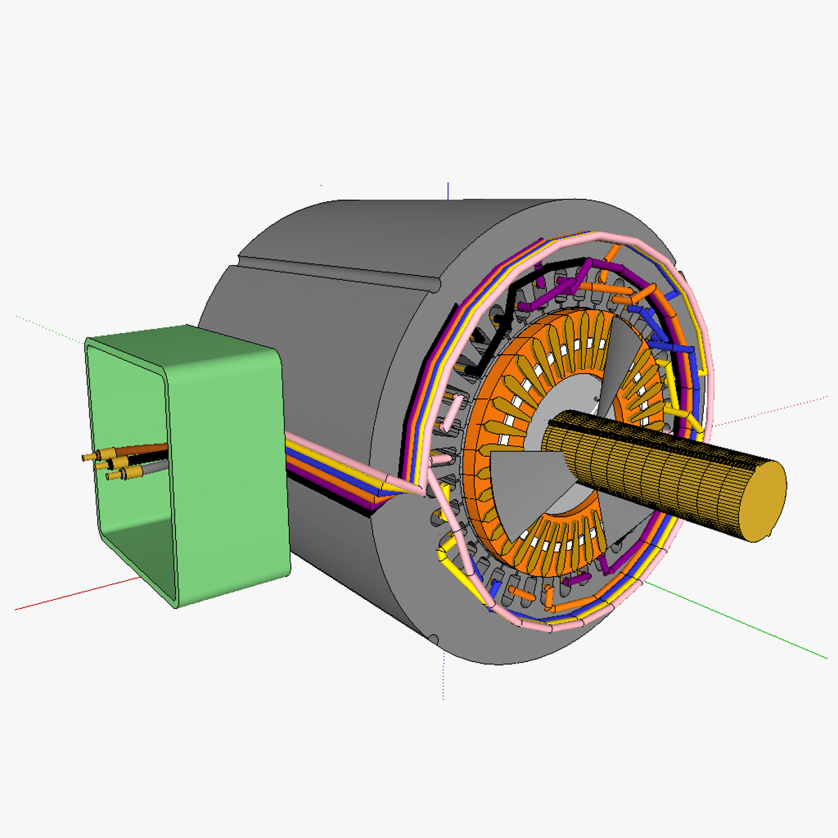 Squirrelcage Rotor Induction Motor 3d Model Skp