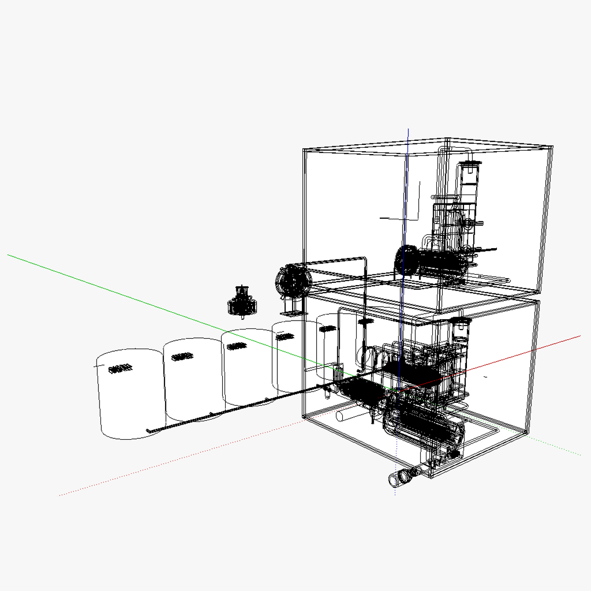 Compressed air energy and use system (CAES 3D Model .skp  CGTrader  #468546
