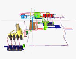 wood gas fed at ic motor 3d print model