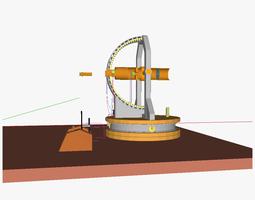 Remote operated telescope 3D model