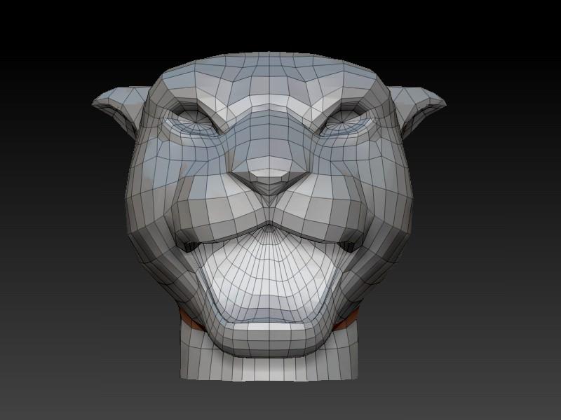 Panther Head Printable 3d Model 3d Printable Max Obj