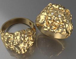 Ring Lion 3D Model