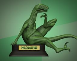 Philosoraptor 3D Model