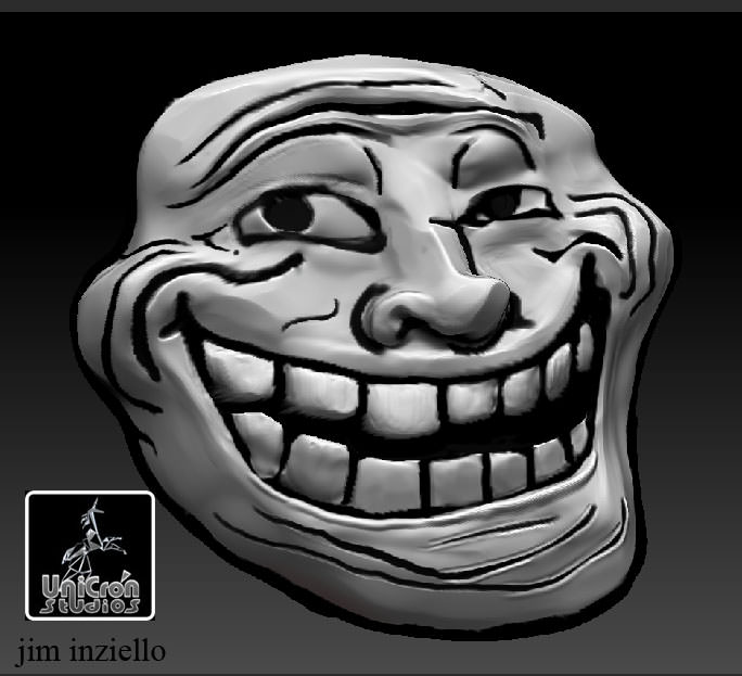 troll face and posing body 3d printable model