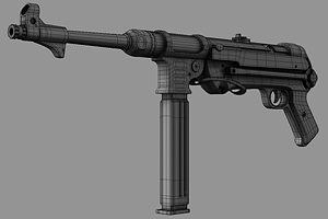 gun mp40  3d model obj mtl 1