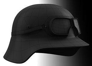 nazi helmet 3d model obj mtl 1