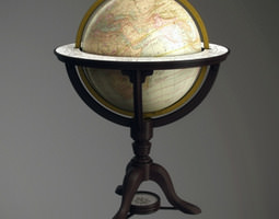 Vintage old world globe 3D Model