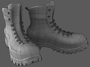 military boots 3d model obj mtl 1