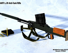 rigged Lahti L-39 Anti-Tank Rifle 3D Model