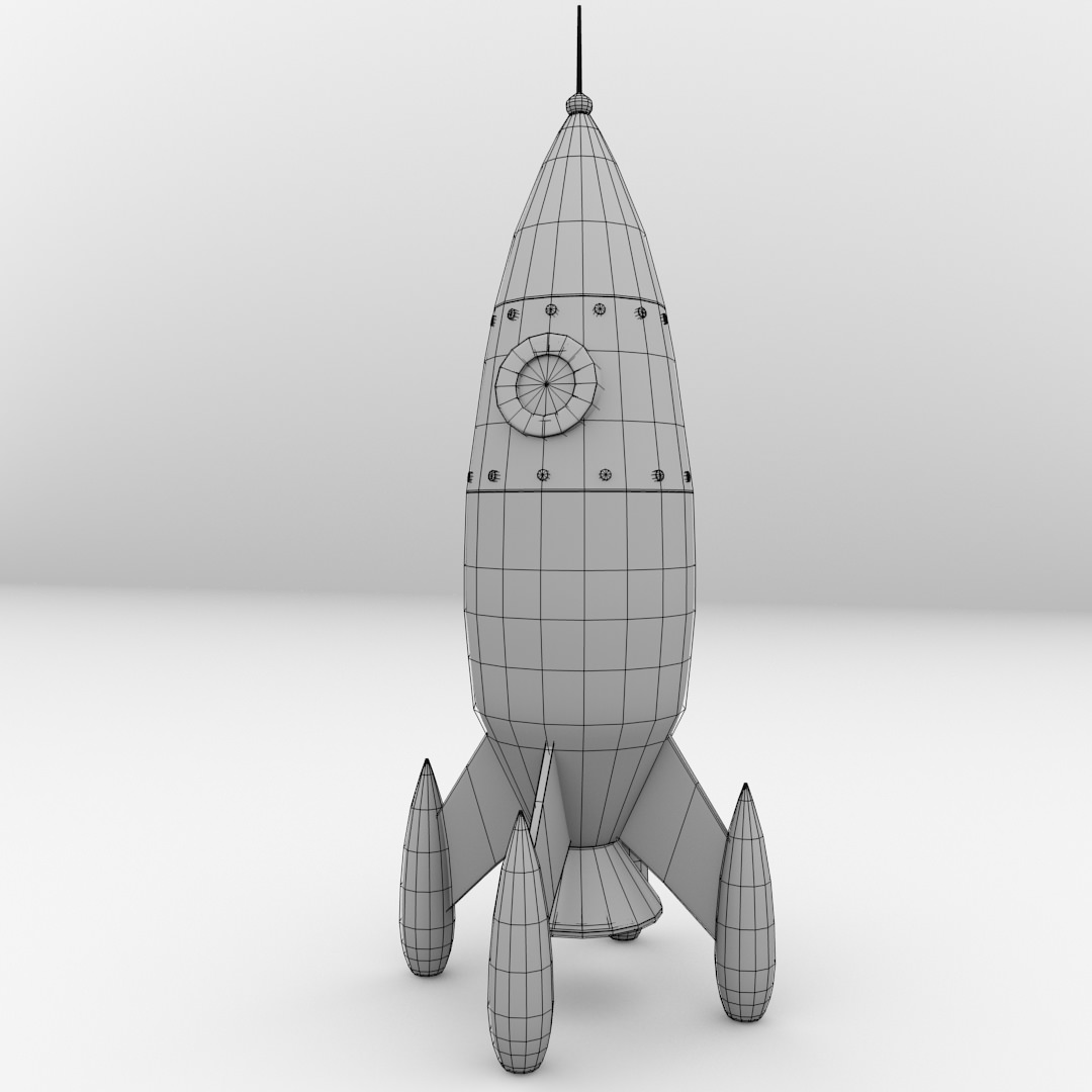 Retro Space Rocket Model (page 3) - Pics about space