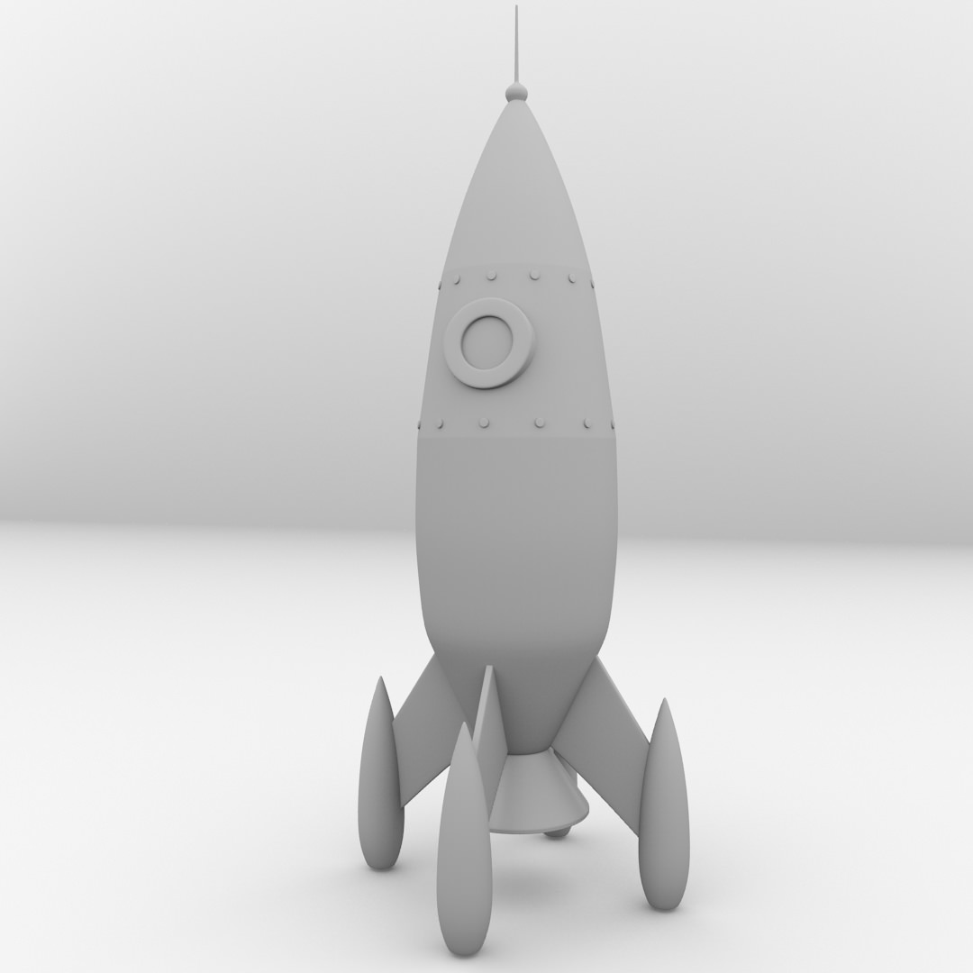Retro Space Rocket Model (page 4) - Pics about space
