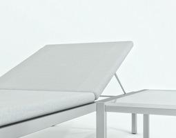 3D model Sunbed table