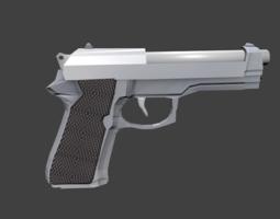 Beretta Gun 3D Model