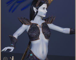Elven Witch 3D model