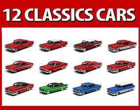 Collection 12 Classics cars Chevrolet 3D