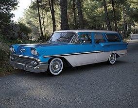 Chevrolet Brookwood Station Wagon 1958 3D delray