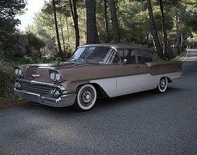 Chevrolet Delray 4-Door Sedan 1958 3D