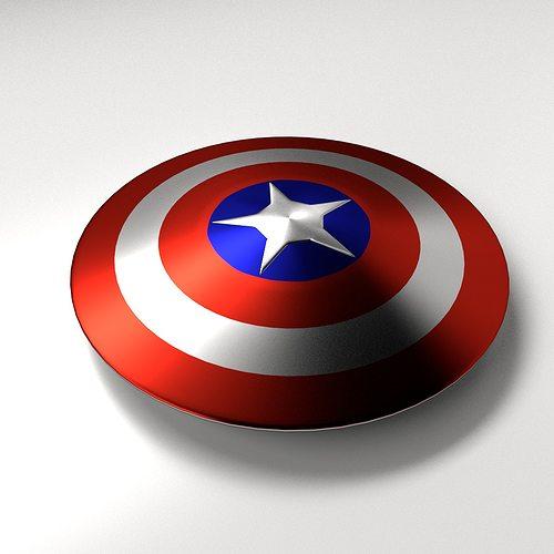captain america shield 3d model 3ds fbx blend dae 1