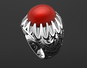 3D print model White Gold Ring With Ruby 1