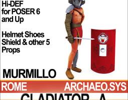 Roman Gladiator Murmillo Props Poser Daz 3D Model