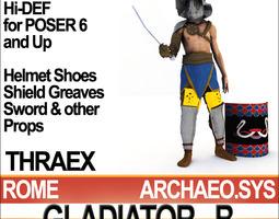 Roman Gladiator Thraex Props Poser Daz 3D Model
