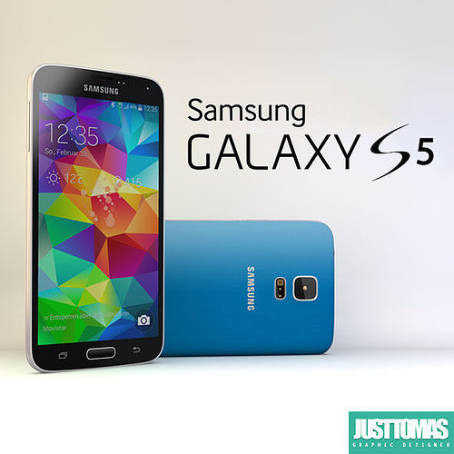 samsung galaxy s5 3d model obj mtl 3ds c4d 1