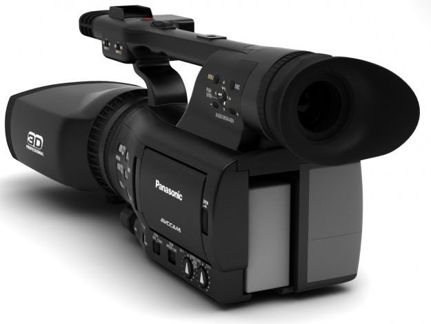 Panasonic Twin Lens 3D Camera 3D Model .max .obj .3ds .fbx .c4d .dxf