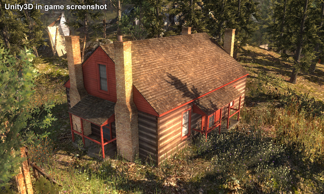 Wooden house building low poly 3d model game ready max for House making games