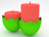 Easter egg candle 3D Model
