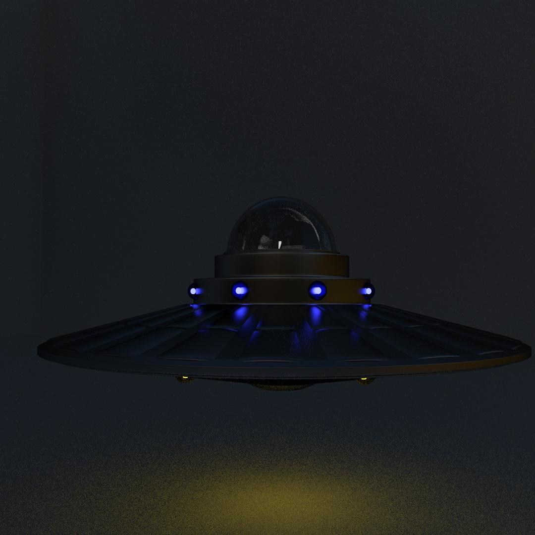 Flying Saucer 3d Model 3ds Fbx Blend Dae Cgtrader Com