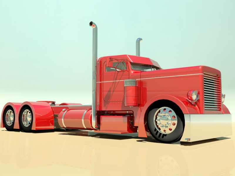 Hot Rod Semi Truck 3D Model .max .obj .3ds .fbx - CGTrader.com
