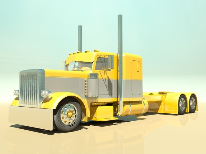 Custom Semi Truck 3D Model MAX OBJ 3DS FBX - CGTrader.com
