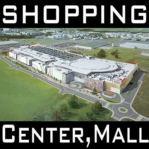 mall shopping center retail store 3d model max obj 3ds fbx c4d lwo lw lws 1