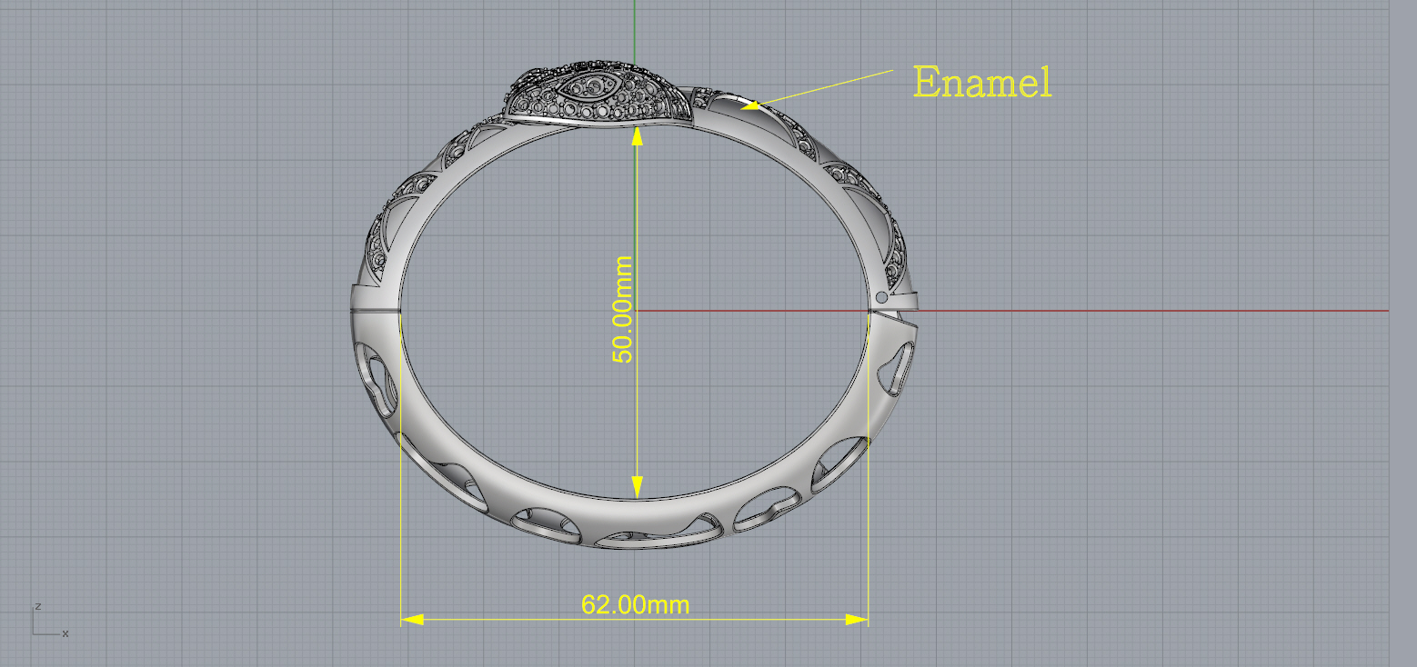 bracelet snake 3d model 3d printable stl