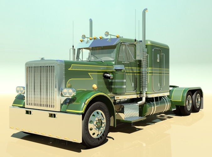 359 Custom Semi Truck 3D Model .max .obj .3ds .fbx ...