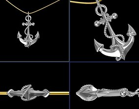 Anchor Pendant 3D printable model
