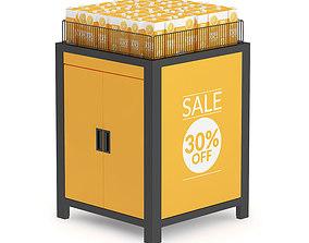 3D model Market Shelf - Orange Juice