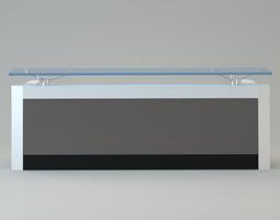 3D model Contemporary reception desk