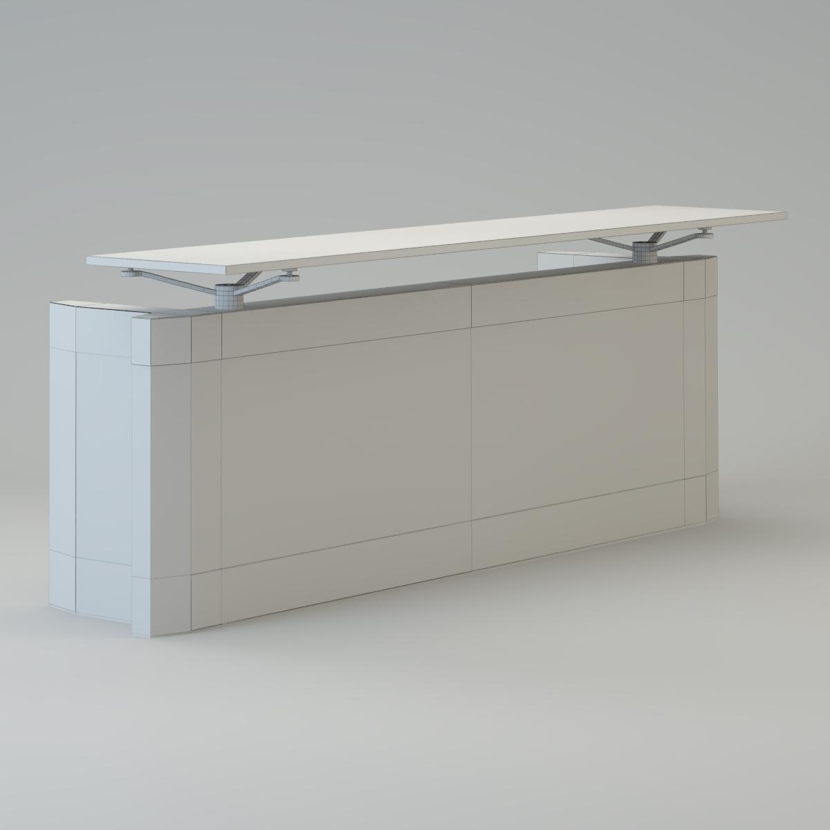 contemporary reception desk 3d model max cgtrader