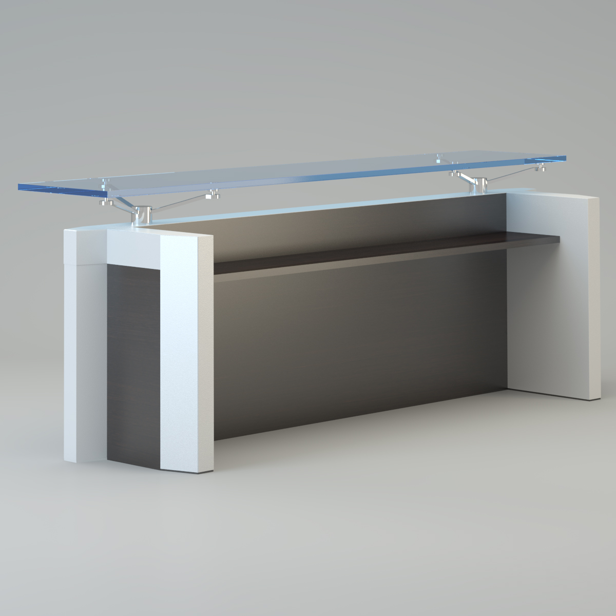 Contemporary reception desk 3d model max for Reception furniture