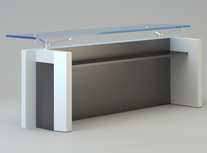 Contemporary Reception Desk 3d Model Max Cgtrader Com