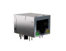 Ethernet socket 3D Model