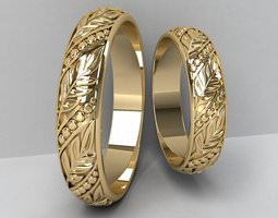 Wedding Rings 3D print model