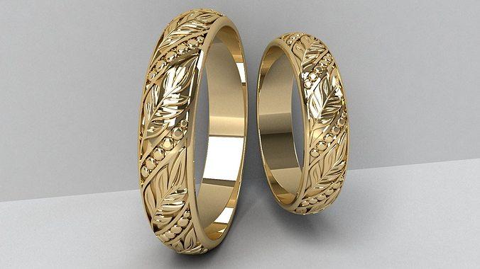 wedding rings 3d model stl 1