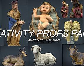 3D model Christmas Nativity Scene Props