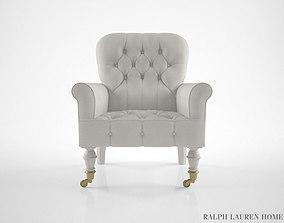 Ralph Lauren Vesey Tufted Club Chair 3D