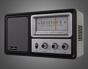 Vintage Radio - Game Ready 3D asset