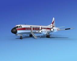 rigged 3d model lockheed l-188 electra hp gulf coast aviation