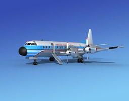 3D model L-188 Electra HP Lockheed Aircraft