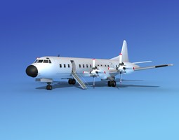 3D model Lockheed L-188 Electra HP Unmarked 5